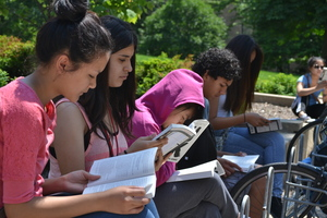 High Schoolers reading